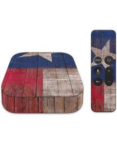 Texas Flag Dark Wood Apple TV Skin