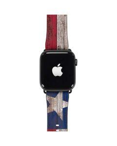 Texas Flag Dark Wood Apple Watch Band 42-44mm