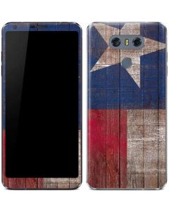 Texas Flag Dark Wood LG G6 Skin