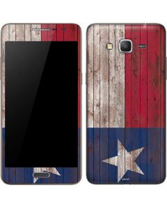 Texas Flag Dark Wood Galaxy Grand Prime Skin