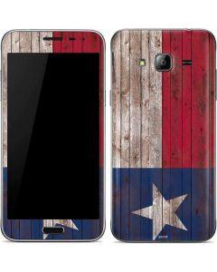 Texas Flag Dark Wood Galaxy J3 Skin