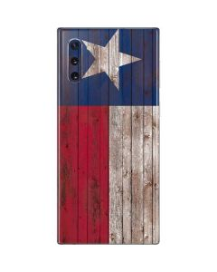 Texas Flag Dark Wood Galaxy Note 10 Skin