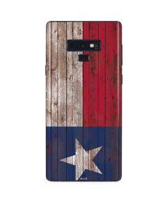 Texas Flag Dark Wood Galaxy Note 9 Skin