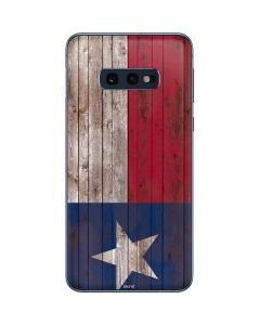 Texas Flag Dark Wood Galaxy S10e Skin