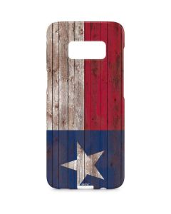 Texas Flag Dark Wood Galaxy S8 Plus Lite Case