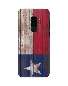 Texas Flag Dark Wood Galaxy S9 Plus Skin