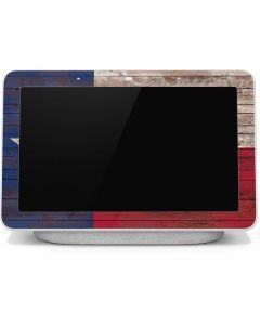 Texas Flag Dark Wood Google Home Hub Skin