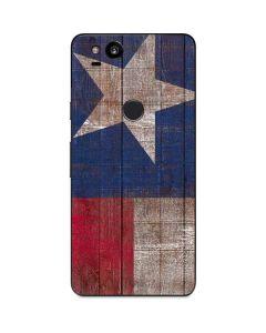 Texas Flag Dark Wood Google Pixel 2 Skin