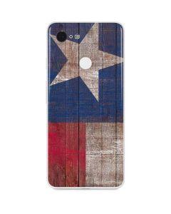 Texas Flag Dark Wood Google Pixel 3 Skin