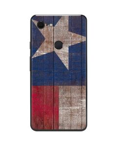 Texas Flag Dark Wood Google Pixel 3 XL Skin
