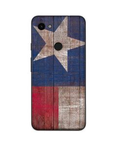 Texas Flag Dark Wood Google Pixel 3a XL Skin
