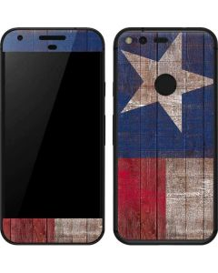 Texas Flag Dark Wood Google Pixel Skin