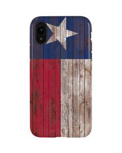 Texas Flag Dark Wood iPhone XR Pro Case