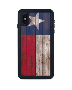 Texas Flag Dark Wood iPhone XS Max Waterproof Case