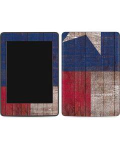 Texas Flag Dark Wood Amazon Kindle Skin