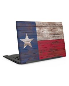 Texas Flag Dark Wood Dell Latitude Skin