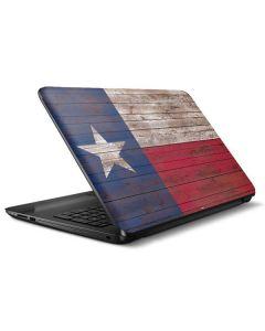 Texas Flag Dark Wood HP Notebook Skin