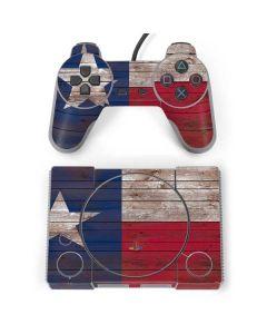 Texas Flag Dark Wood PlayStation Classic Bundle Skin