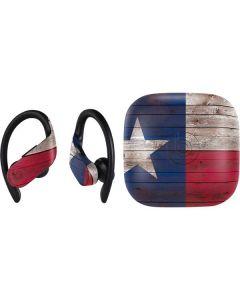 Texas Flag Dark Wood PowerBeats Pro Skin