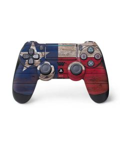Texas Flag Dark Wood PS4 Pro/Slim Controller Skin