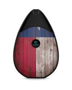 Texas Flag Dark Wood Suorin Drop Vape Skin