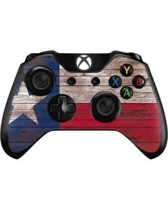 Texas Flag Dark Wood Xbox One Controller Skin