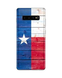 Texas Flag Light Wood Galaxy S10 Plus Skin
