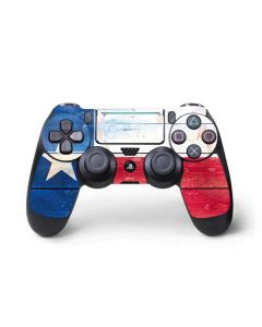 Texas Flag Light Wood PS4 Pro/Slim Controller Skin