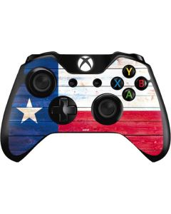 Texas Flag Light Wood Xbox One Controller Skin