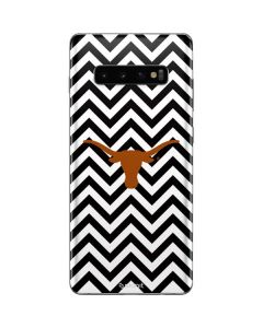 Texas Longhorns Chevron Black Galaxy S10 Plus Skin