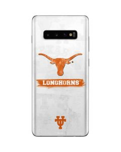 Texas Longhorns Distressed Galaxy S10 Plus Skin