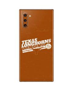 Texas Longhorns Est 1883 Galaxy Note 10 Skin