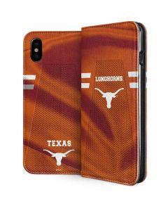 Texas Longhorns Jersey iPhone XS Folio Case