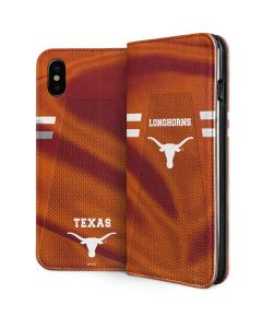 Texas Longhorns Jersey iPhone XS Max Folio Case