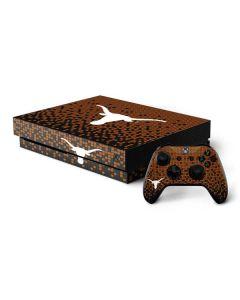 Texas Longhorns Orange Checkered Xbox One X Bundle Skin