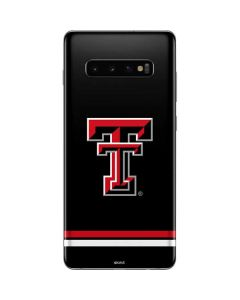 Texas Tech Striped Logo Galaxy S10 Plus Skin