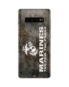 The Few The Proud Camo Marines Galaxy S10 Plus Skin