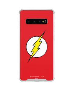 The Flash Emblem Galaxy S10 Clear Case