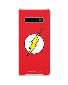 The Flash Emblem Galaxy S10 Plus Clear Case