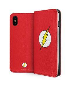 The Flash Emblem iPhone XS Max Folio Case