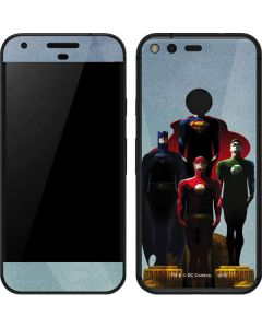 The Justice League Google Pixel Skin