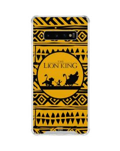 The Lion King Tribal Print Galaxy S10 Plus Clear Case