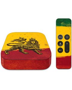 The Lion of Judah Rasta Flag Apple TV Skin