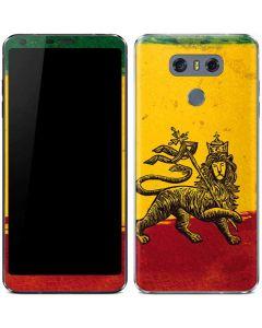 The Lion of Judah Rasta Flag LG G6 Skin