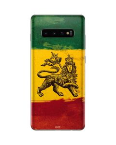 The Lion of Judah Rasta Flag Galaxy S10 Plus Skin