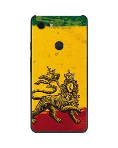 The Lion of Judah Rasta Flag Google Pixel 3 XL Skin