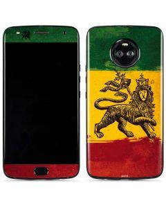 The Lion of Judah Rasta Flag Moto X4 Skin
