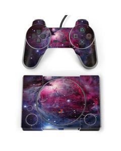 The Orion Nebula Pink PlayStation Classic Bundle Skin