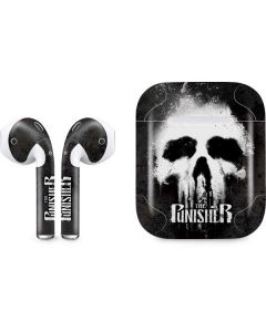 The Punisher White Skull Apple AirPods Skin