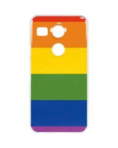The Rainbow Flag Google Nexus 5X Clear Case